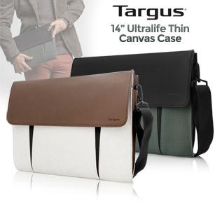 "Targus Ultralife Thin Canvas Case for 14"" Ultrabooks, Macbook Air/Pro"
