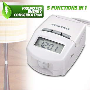 Sylvania 10 Amp Table-Top Timer with Motion Sensor and Alarm