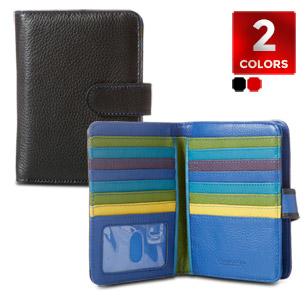 Safe ID Leather Bi-Fold Tab Wallet