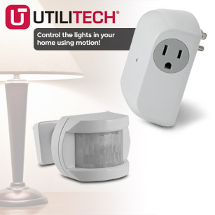 Utilitech Wireless Motion Sensor with Outlet Receiver