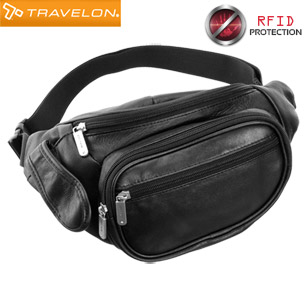 Travelon Leather Waist-Pack with Organizer