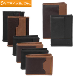Travelon Safe ID Accent Wallets With RFID Protection