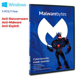 Malwarebytes Anti-Malware Premium 3.0 - 3 PC / 1 Year (Key Card)