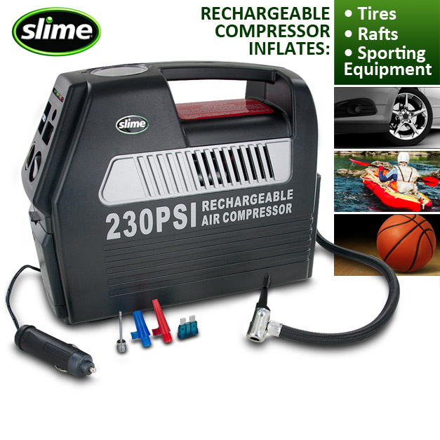 Cordless & Rechargeable 12-Volt Tire Inflator
