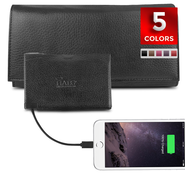 Halo Power Wallet with RFID Protection