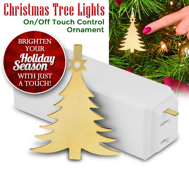Christmas Tree Lights On/Off Touch Control Ornament ...