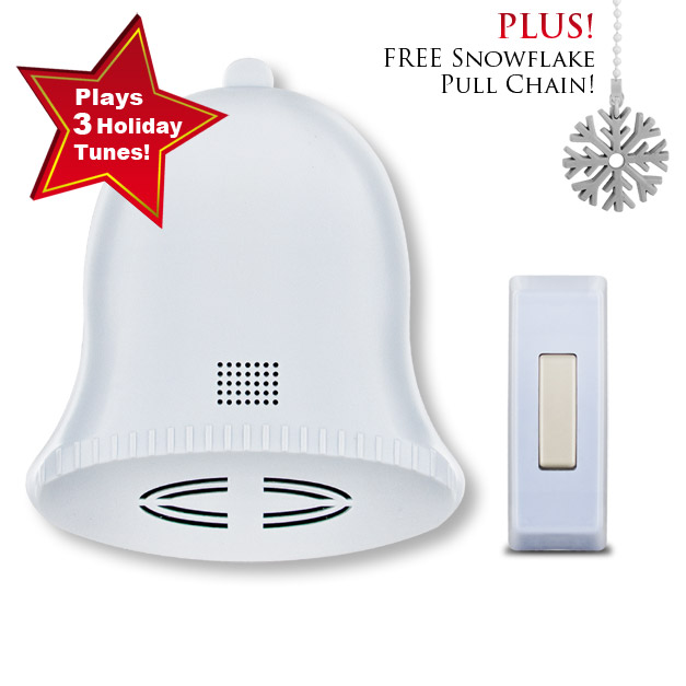 Jingle Bell Wireless Door Bell & FREE Snowflake Pull Chain