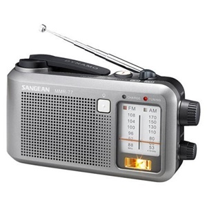 Sangean AM/FM Multi Powered Water Resistant Emergency Crank Radio