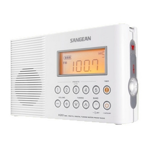 Sangean H201 AM/FM Shower Radio - 5 x AM, 5 x FM Presets