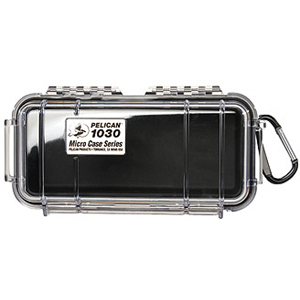 "Pelican 1030 Multi Purpose Micro Case - 3.87"" x 2.43"" x 7.5"" - Black"