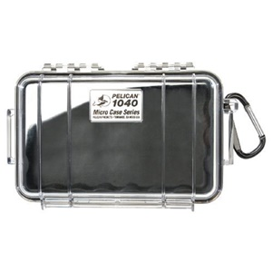 "1040 Micro Case with Black Liner - 5.06"" x 2.12"" x 7.5"" - Clear"