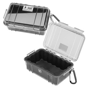 "1050 Micro Case with Black Liner - 5.06"" x 3.12"" x 7.5"" - Clear"