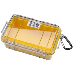 "1050 Micro Case with Yellow Liner - 5.06"" x 3.12"" x 7.5"" - Clear"