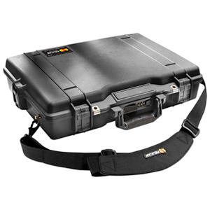 "Pelican 1495 Notebook Case - Top-loading - 17.25"" x 4.87"" x 21.62"" - Foam - Black"