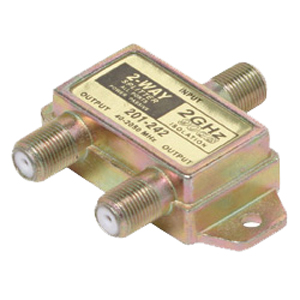 Steren 2-Way Satellite Splitter - 2-way - 2400MHz