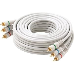 Steren Python Component Video Cable - RCA Male - RCA Male - 3ft - Ivory
