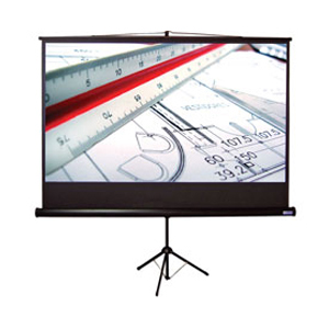 "VUTEC 01-EVTR4580 Tripod Projection Screen - Matte White - 92"" Diagonal"