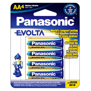 Panasonic EVOLTA Alkaline General Purpose Battery - 1.5V DC