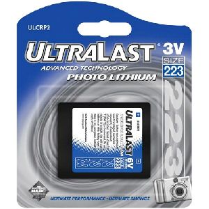 NABC UltraLast ULCRP2 CRP2 (223) Lithium Photo Camera Battery - 6V DC