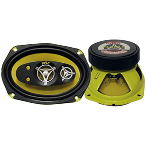 "Pyle Gear X PLG69.3 Speaker - 180 W RMS - 3-way - 2 Pack - 4 Ohm - 6"" x 9"""