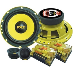 Pyle Gear X PLG6C Speaker - 200 W RMS - 2-way - 2 Pack - 1.40 Hz to 24 kHz - 4 Ohm - 6.50""