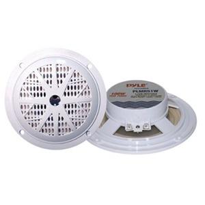 """Pyle PLMR51W Dual 5.25"""" Waterproof Marine Speakers, White (Pair)"""