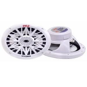 "Pyle PLMR-692 Dual 6"" x 9"" Water Resistant 260W Marine Speakers, White (Pair)"