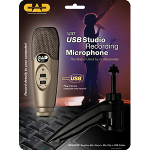 CAD U37 Handheld Microphone - Handheld - Cable
