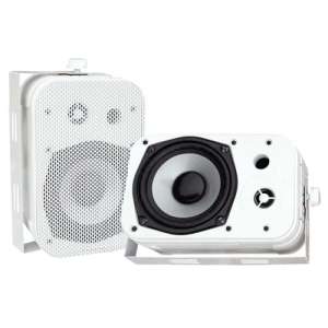 Pyle PylePro PDWR40W Indoor/Outdoor Speaker - 2-way - White - 4 Ohm