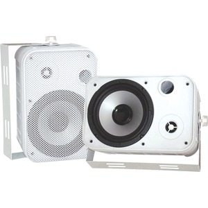 Pyle PylePro PDWR50W Indoor/Outdoor Speaker - 2-way - White - 4 Ohm