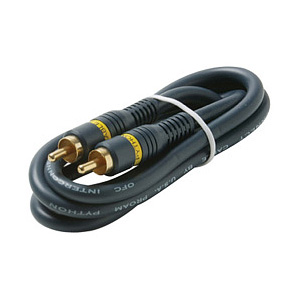 Steren Python Home Theater Audio Cable - RCA Male - RCA Male - 6ft - Blue