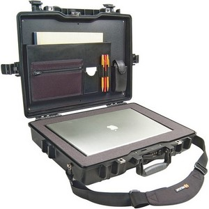 "Pelican 1495 Notebook Case with Foam - 17.25"" x 4.87"" x 21.62"" - Black"