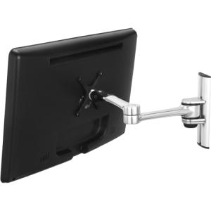 Visidec Focus Articulated Arm Wall Mount - 17.5 lb - Polished Silver