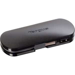 Targus 4-port Mobile USB Hub - 4 x 4-pin Type A Female USB 2.0 USB - External