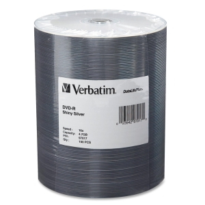 Verbatim 97017 DVD Recordable Media - DVD-R - 16x - 4.70 GB - 100 Pack Wrap