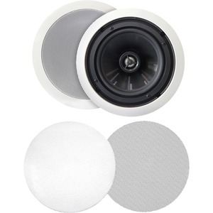 BIC America MSR-PRO6 125 W RMS Speaker - 2-way - White - 8 Ohm
