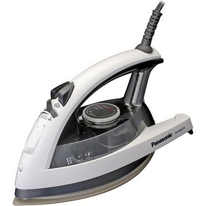 Panasonic NI-W450TS Steam Iron - Titanium Sole Plate - 6.75fl oz Reservoir Capacity - 1500W - Gray, White, Black