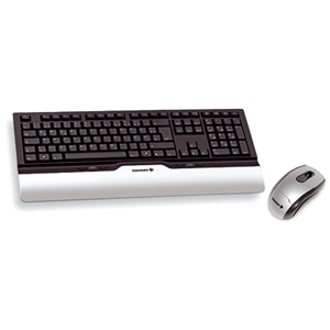 Cherry eVolution CONTROL XT Wireless Multimedia Desktop Keyboard and Mouse - Keyboard - Wireless - 104 Keys - USB - English (US) - Mouse - Wireless - Optical - USB