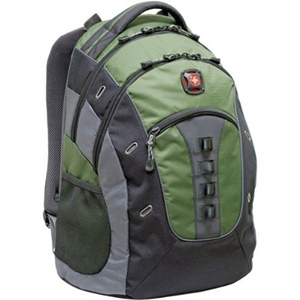 "SwissGear GRANITE GA-7335-07F00 Carrying Case (Backpack) for 15.6"" Notebook - Green - Polyester, Vinyl"