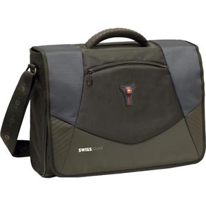 "SwissGear Carrying Case (Briefcase) for 17"" Notebook - Blue - Polyester, Vinyl"