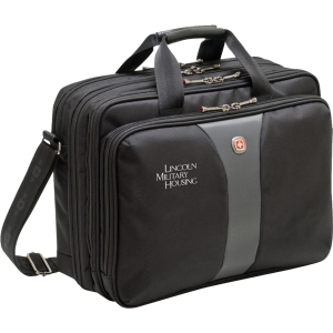 LEGACY 15.6&quot; Triple Gusset Notebook Case - Top-loading - 13.5&quot; x 8&quot; x  x  x 17&quot; - Polyester, Nylon - Black