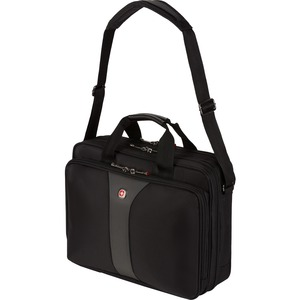"LEGACY 15.6"" Double Gusset Notebook Case - Top-loading - 13"" x 6"" x  x  x 17"" - Polyester, Nylon - Black"