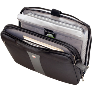 "SwissGear LEGACY WA-7444-14F00 Carrying Case for 17"" Notebook - Black - Polyester, Nylon"