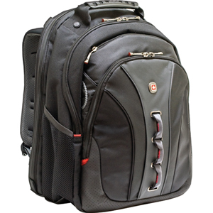 "SwissGear LEGACY WA-7329-14F00 Carrying Case (Backpack) for 15.6"" Notebook - Black - Polyester, Vinyl"
