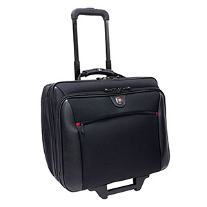 SwissGear WA-7966-02F00 Carrying Case for 17&quot; Notebook - Black - Polyester, Vinyl