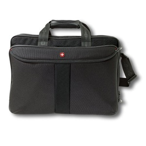"Wenger CORAL 15.4"" Double Gusset Notebook Case - 15.4"" Screen Support - 12"" x 7"" x 17"" - Polyester - Black"