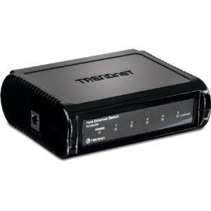 TRENDnet Fast Ethernet 5 Port Switch 10/100 Base-T -  TE100-S5