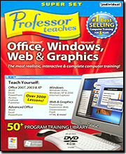 Professor Teaches SuperSet 4: Microsoft Office, Windows, Web & Graphics (DVD)
