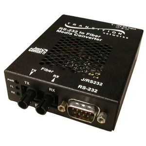 Transition Networks Just Convert-IT RS232 Copper to Fiber Stand-Alone Media Converter - 1 x DB-9  , 1 x ST Duplex