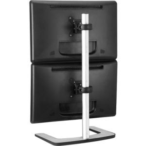 "Visidec Freestanding Dual Vertical Mount - Up to 26.5lb - Up to 24"" Flat Panel Display - Silver - Floor-mountable"